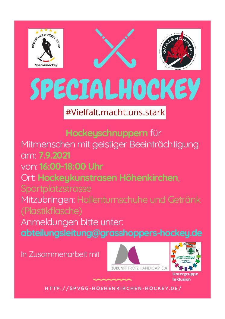 Hockeyschnuppern für Mitmenschen mit geistiger Beeinträchtigung